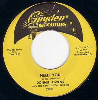 """Donnie Owens """"Need You"""""""
